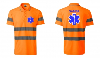 Polo  - orange reflex - SANITA +3M