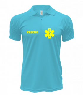 Polo RESCUE - Quick Dry - Blue Atol